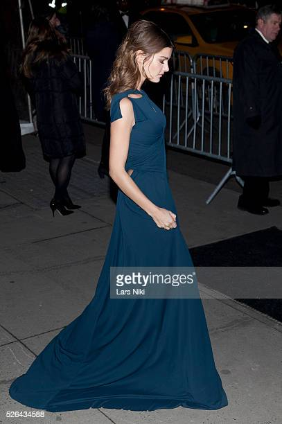 Ophelie Guillermand attends the '2016 amfAR' New York Gala outside arrivals at Cipriani Wall Street in New York City �� LAN