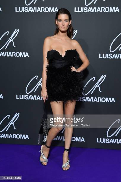 Ophelie Guillermand attends the CR Fashion Book x LuisaViaRoma Photocall as part of the Paris Fashion Week Womenswear Spring/Summer 2019 on October 1...