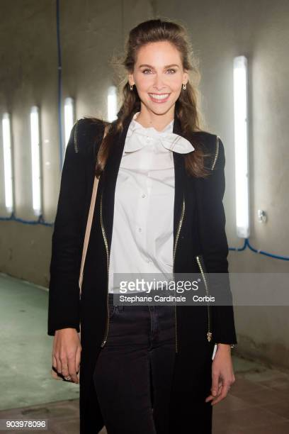 Ophelie Meunier attends the Vendorama Exhibition Boucheron Celebrates Its 160 Anniversary at Monnaie de Paris on January 11 2018 in Paris France
