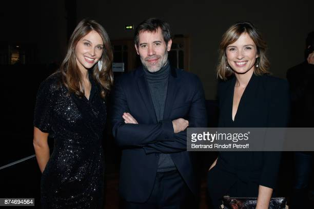 Ophelie Meunier Jalil Lespert and Isabelle Ithurburu attend the GQ Men of the Year Awards 2017 at Le Trianon on November 15 2017 in Paris France