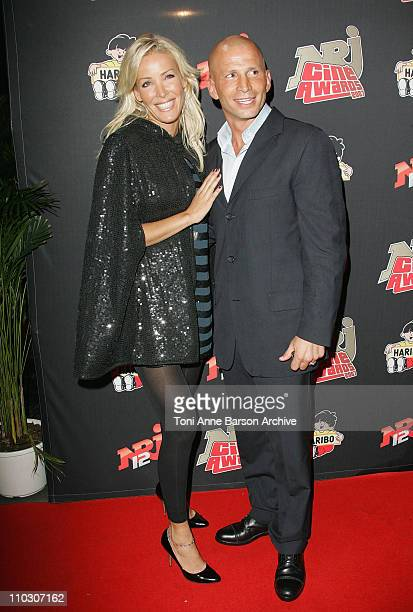 Ophelie Winter and Boyfriend Dida arrives at the Rex NRJ Cine Awards on October 1 2007 in Paris France