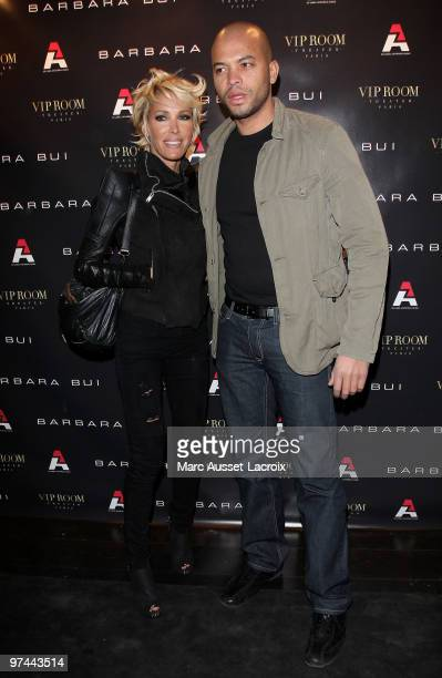 Ophelie Winter and guest attend the Barbara Bui Party at VIP Room Theatre on March 4 2010 in Paris France