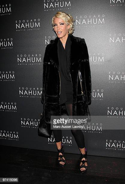 Ophelie Winter attend the Jeweler Edouard Nahum Celebrates Birthday the at VIP Room Theatre on March 3 2010 in Paris France