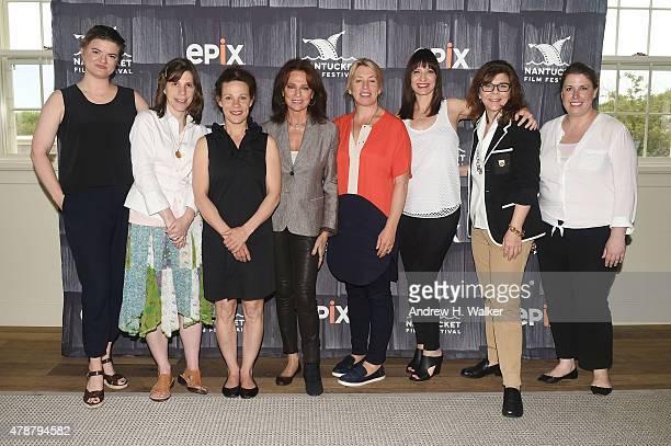 "Ophira Eisenberg, Leslye Headland, Lili Taylor, Cynthia Littleton, Jacqueline Bissett, Nancy Dubuc, Stacy L. Smith and Jocelyn Diaz attend the ""Women..."