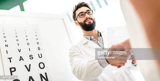 Ophthalmologist doctor meet the patient