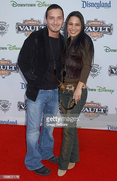 Opie and Jennifer Pena during Opening of Disney Vault 28 Arrivals at Disney Vault 28 in Anaheim California United States