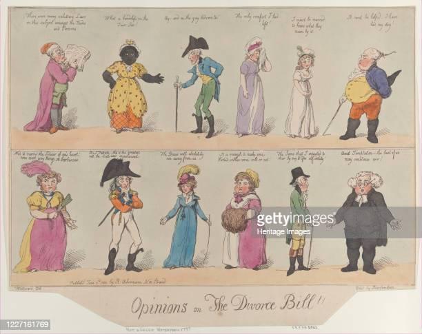 Opinions on The Divorce Bill June 2 1800 Artist Thomas Rowlandson