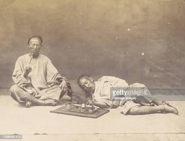 Opium smoker 1867 Artist William Thomas Saunders
