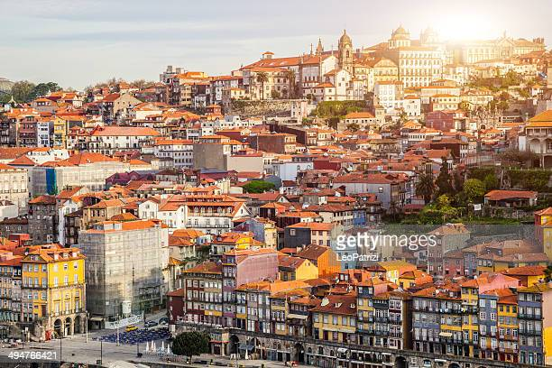 oporto aerial view - porto portugal stock pictures, royalty-free photos & images