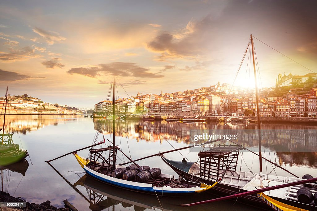Oporto view from the the Douro river : Stock Photo