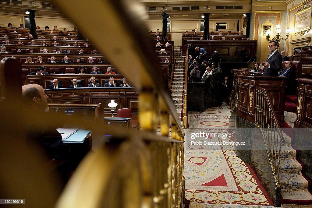 Mariano Rajoy Speaks During A State Of Nation Debate