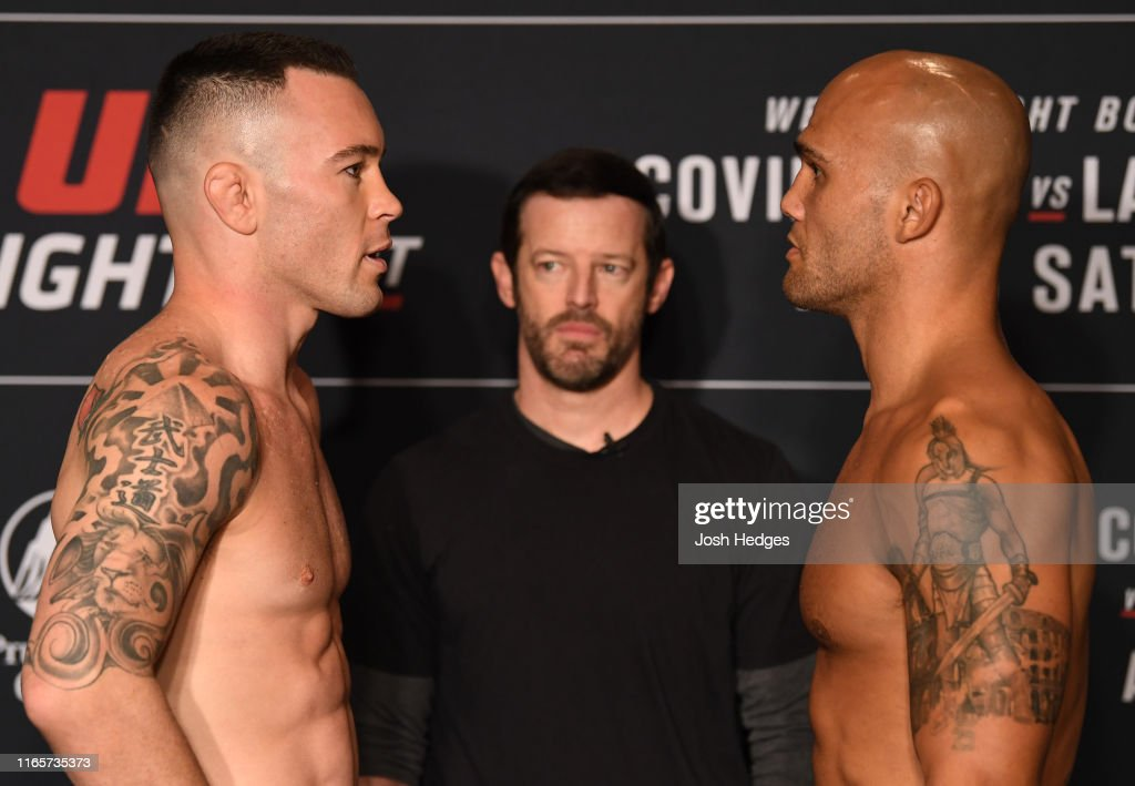 UFC Fight Night Covington v Lawler: Weigh-Ins : News Photo