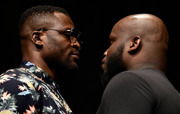 Francis Ngannou and Derrick Lewis