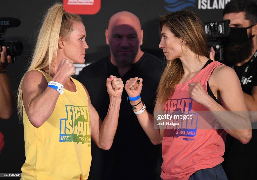 UFC Fight Night Holm v Aldana: Weigh-Ins : News Photo