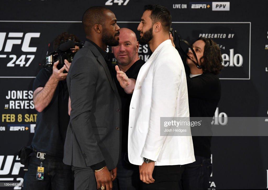 UFC 247 Jones v Reyes: Ultimate Media Day : News Photo