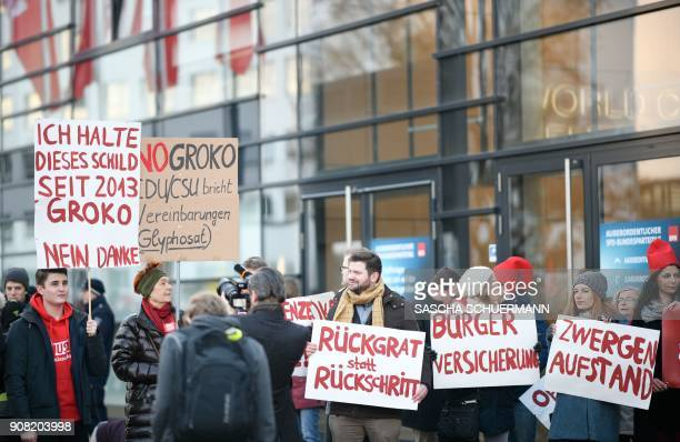 Opponents of the 'GroKo' as the grand coalition between Germany's social democratic SPD party and the conservative CDU/CSU union is known in German...