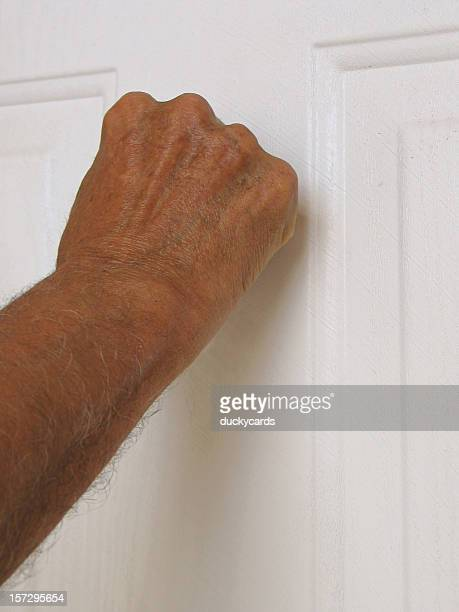 opportunity knocking - knocking on door stock photos and pictures