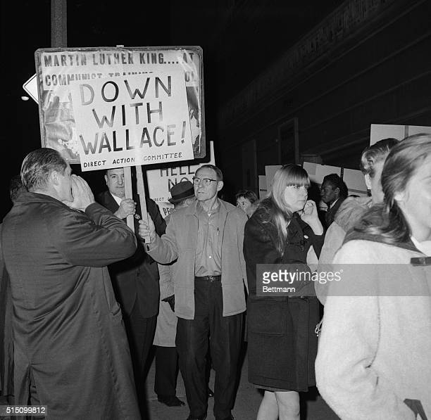 Opposing Factions Cleveland Ohio Former Governor George Wallace of Alabama came to Cleveland to drum up interest in his campaign to run as a...