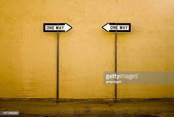 opposite ways - one direction stock pictures, royalty-free photos & images