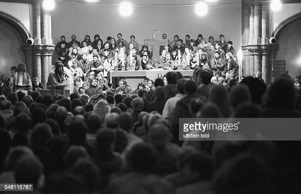 GDR Opposition Concert organised by civil rights activists for dissisdents who were forced to leave the country the concert took place in a church in...