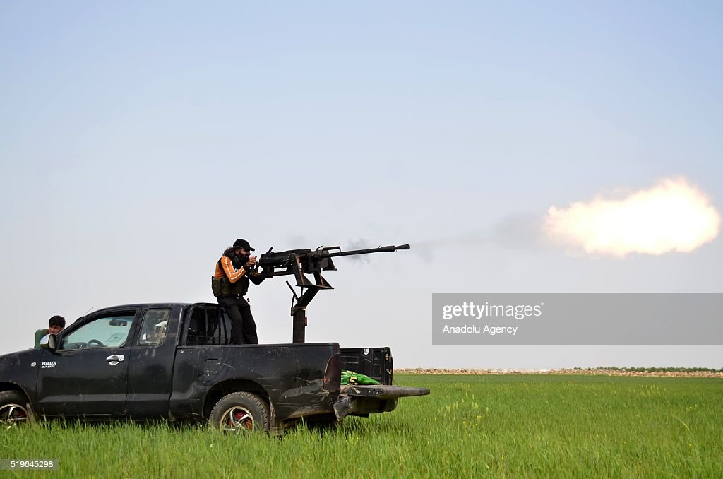 Syrian opposition grup re-seize the Turkmen town from Daesh terrorists : News Photo