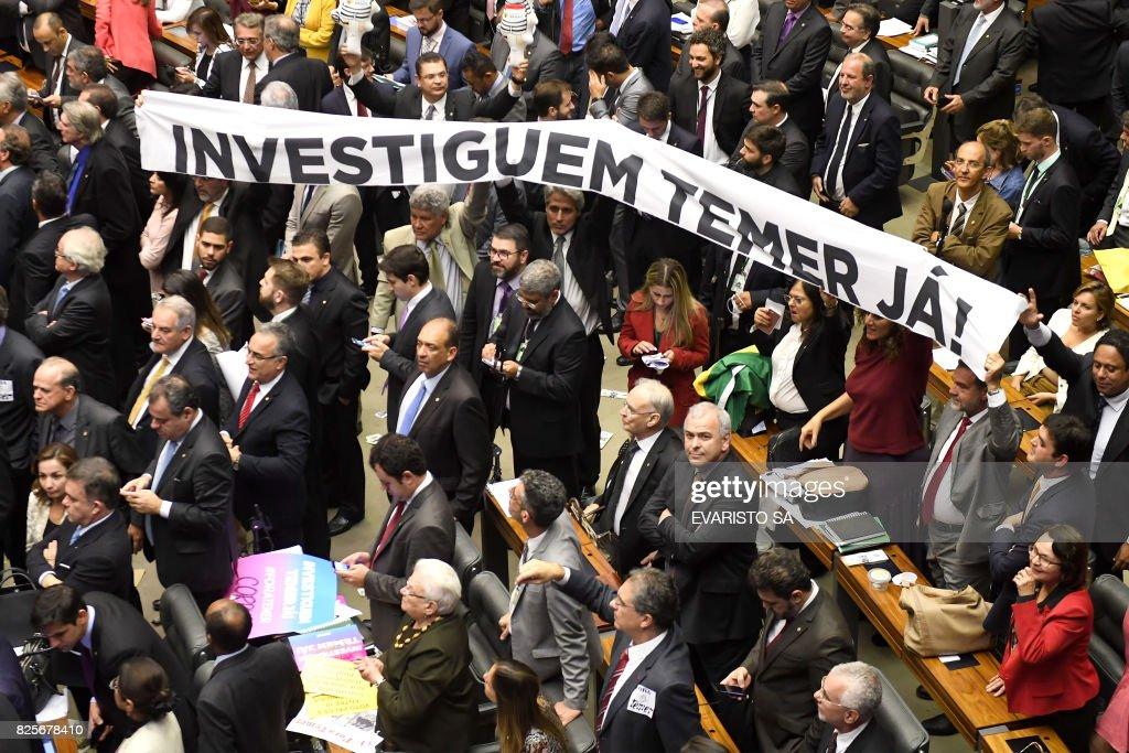 BRAZIL-CRISIS-CORRUPTION-CONGRESS-TEMER : ニュース写真