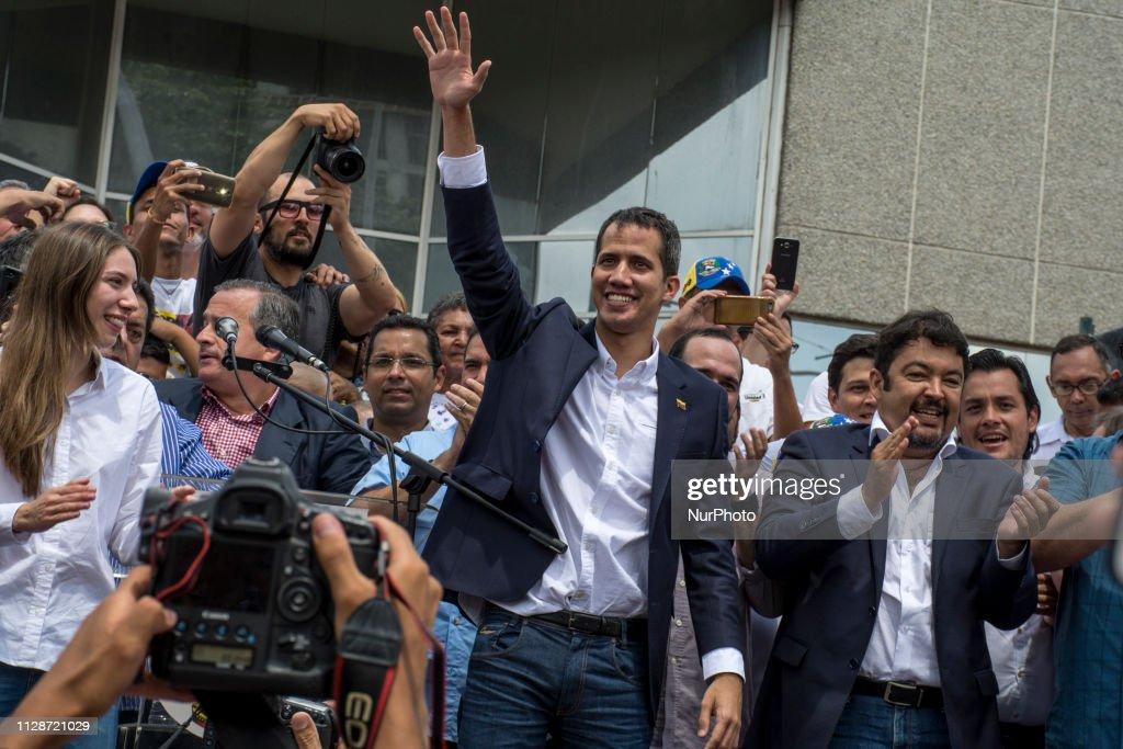 Juan Guaido Back In Venezuela : News Photo