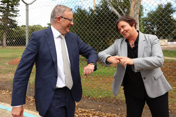 AUS: Opposition Leader Anthony Albanese Visits Kwinana Nickel Refinery