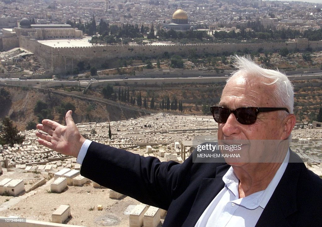 Opposition leader Ariel Sharon of the ri : News Photo