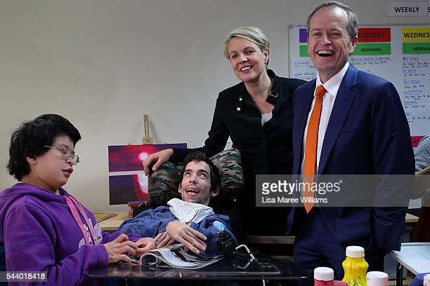 Opposition Leader Australian Labor Party Bill Shorten and Deputy Leader of the Opposition Tanya Plibersek visits Northcott a disability support...