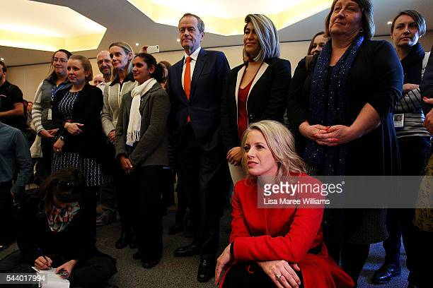 Opposition Leader Australian Labor Party Bill Shorten and wife Chloe Shorten visit Northcott a disability support centre in Parramatta on July 1 2016...
