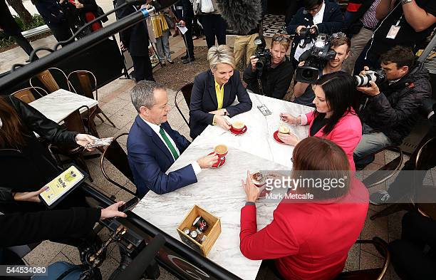 Opposition Leader Australian Labor Party Bill Shorten Deputy Leader of the Opposition Tanya Plibersek federal member for Lindsayelect Emma Husar and...