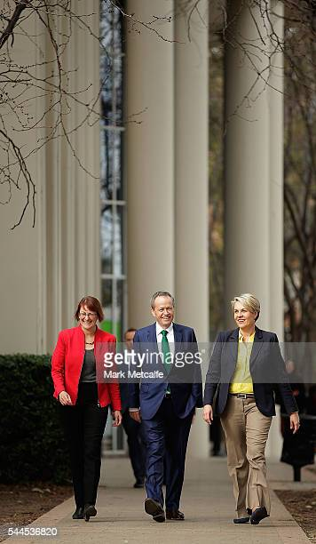 Opposition Leader Australian Labor Party Bill Shorten Deputy Leader of the Opposition Tanya Plibersek and federal member for Macquarieelect Susan...