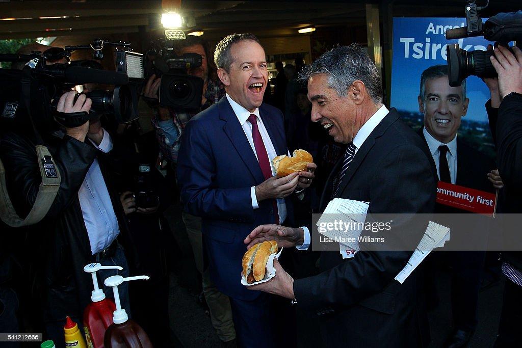 Labor Leader Bill Shorten Campaigns On Election Day