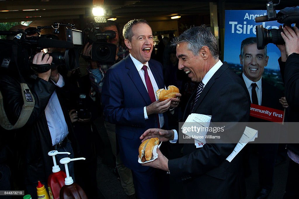 Labor Leader Bill Shorten Campaigns On Election Day