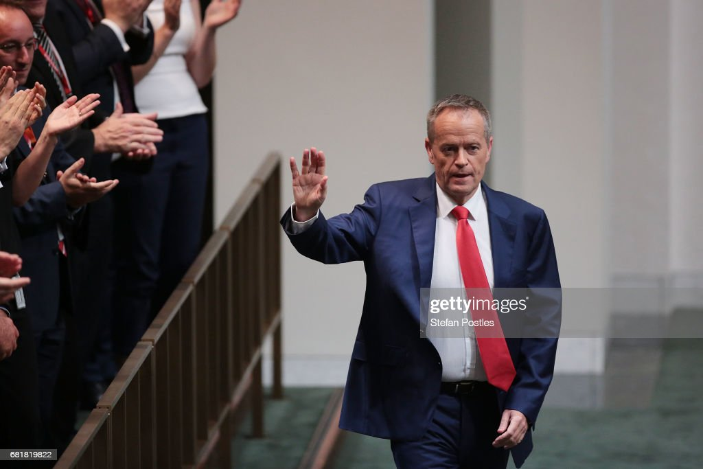 Opposition Leader Bill Shorten after delivering his budget reply address in the House of Representatives at Parliament House on May 11, 2017 in Canberra, Australia. The Turnbull Government's second budget has delivered additional funds to education, a plan to assist first home buyers, along with a crackdown on welfare.