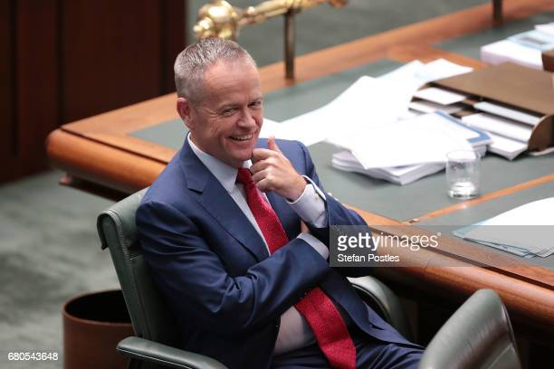 Opposition Leader Bill Shorten during question time in the House of Representatives at Parliament House on May 9 2017 in Canberra Australia The...