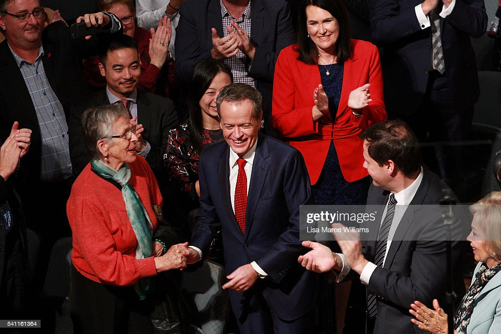 Opposition Leader Bill Shorten is welcomed by the crowd during the Australian Labor Party 2016 Federal Campaign Launch at the Joan Sutherland Performing Arts Centre on June 19, 2016 in Sydney, Australia. Labor leader Bill Shorten has pledged a $257 million jobs plan with tax breaks for businesses who hire mature age workers, people under 25 or mothers returning to work.