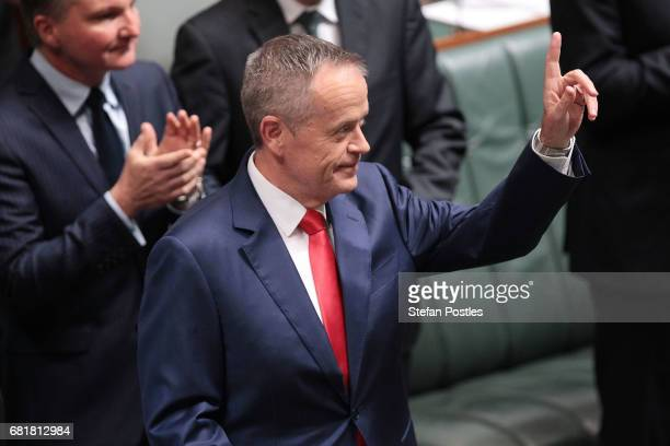 Opposition Leader Bill Shorten prepares to deliver his budget reply address in the House of Representatives at Parliament House on May 11 2017 in...
