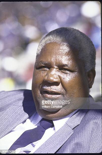 Opposition leader Joshua Nkomo attending Independence Day celebration at the National Stadium