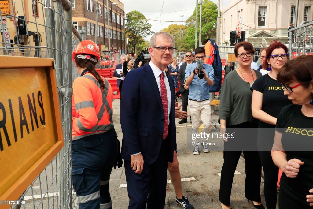 AUS: Michael Daley Meets Business Owners Impacted By Light Rail Construction