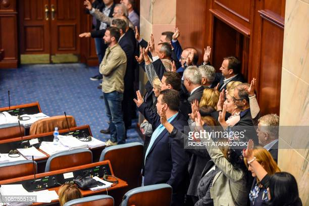 Opposition MPs including former Prime Minister Nikola Gruevski who was sentenced to two years in jail for abuse of power over the use of a luxury car...