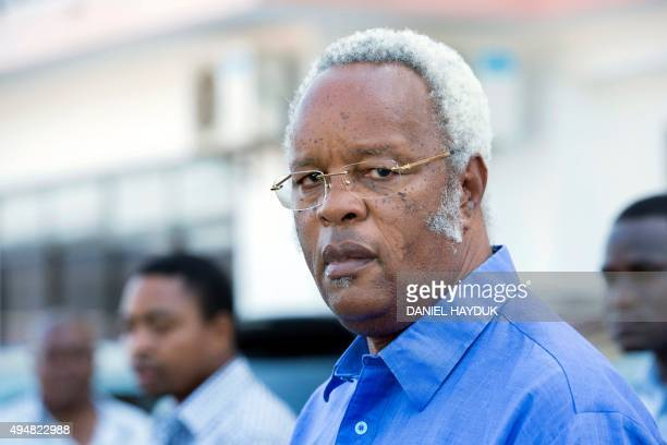 Opposition party Chadema presidential candidate Edward Lowassa leaves a press conference in Dar es Salaam on October 29 2015 after Tanzania's ruling...