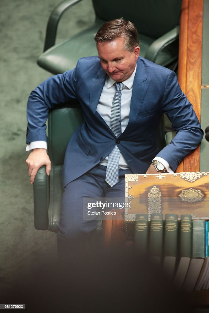 Opposition Treasurer Chris Bowen after question time at Parliament House on May 10, 2017 in Canberra, Australia. The Turnbull Government's second budget has delivered additional funds to education, a plan to assist first home buyers, along with a crackdown on welfare.