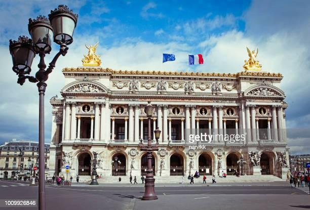 opéra de paris bauen - opernhaus palais garnier stock-fotos und bilder