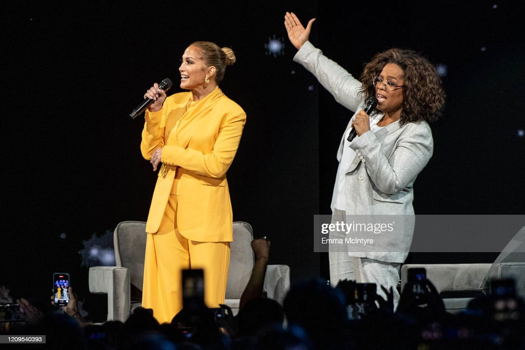 Oprah's 2020 Vision: Your Life In Focus Tour With Special Guest Jennifer Lopez : News Photo