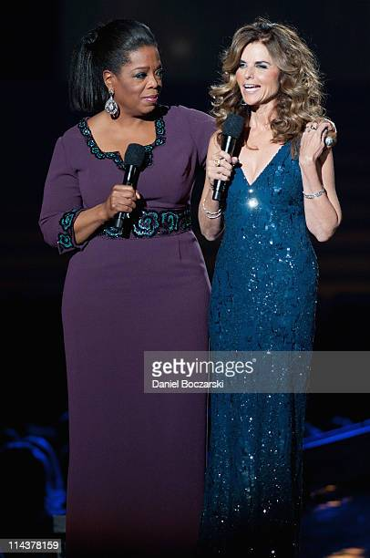 Oprah and Maria Shriver attend Surprise Oprah! A Farewell Spectacular at the United Center on May 17, 2011 in Chicago, Illinois.