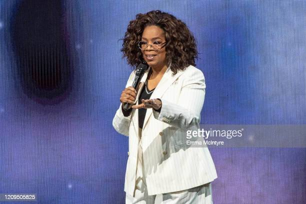 Oprah speaks onstage during 'Oprah's 2020 Vision Your Life in Focus Tour' presented by WW at The Forum on February 29 2020 in Inglewood California