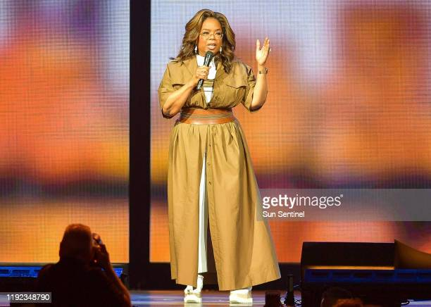 Oprah speaks to a full house at Oprah's 2020 Vision Your Life in Focus Tour at the BB T Center in Sunrise on Saturday Jan 4 2020