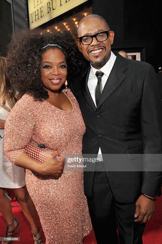 Oprah Winfrey (L) and actor Forest Whitaker attend Lee Daniels' 'The Butler' New York premiere, hosted by TWC, DeLeon Tequila and Samsung Galaxy on August 5, 2013 in New York City.
